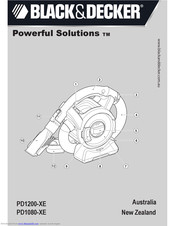 Black & Decker Powerful Solutions PD1200-XE Instructions Manual