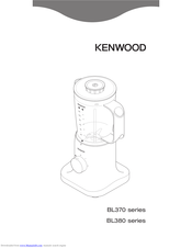 Kenwood BL370 series Quick Manual