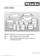 Miele ESS 2060 Operating And Installation Manual