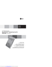LG HFB500 -  - Bluetooth hands-free Car User Manual