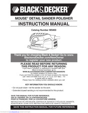 Black & Decker Mouse MS800 Instruction Manual