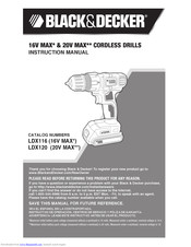 Black & Decker LDX116 Instruction Manual