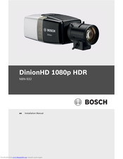 Bosch DinionHD NBN-932 Installation Manual