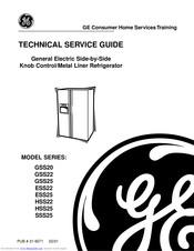 Ge GSS22 Series Manuals | ManualsLib | Ge Gss22 Refrigerator Wiring Schematic |  | ManualsLib