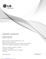 LG RC8011D Owner's Manual