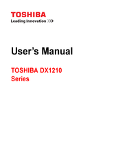 Toshiba DX1210 series User Manual