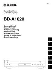 Yamaha BD-A1020 Owner's Manual