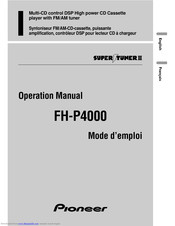 Pioneer FH-P4000 Operation Manual