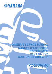 2018 yamaha yz450f motorcycle owners service manual.