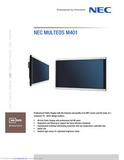 NEC MULTEOS M401 Technical Specifications
