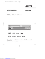 Sanyo HV-DX300A Instruction Manual