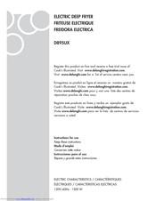 6032101800 Delonghi filter coffee door waffles machine Manual-Original