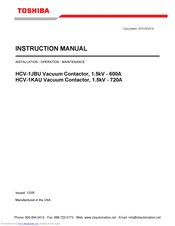 Toshiba 1.5kV - 720A Instruction Manual