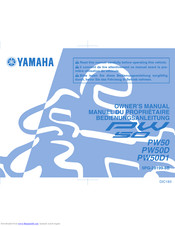 YAMAHA PW50D Owner's Manual