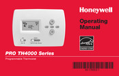 Honeywell PRO TH4000 series Operating Manual
