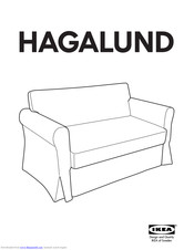 Ikea Hagalund Sofa Bed Frame Manuals Manualslib