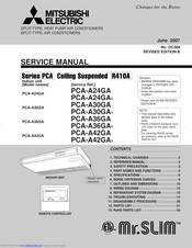 Mitsubishi Electric Mr.Slim PCA-A30GA1 Service Manual