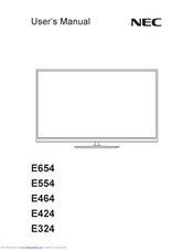 NEC E324 User Manual
