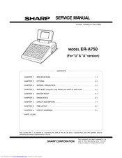 Sharp ER-A750 Service Manual