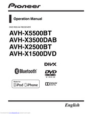 Pioneer AVH-X2500BT Manuals | ManualsLibManualsLib