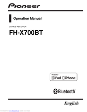 pioneer fh-x700bt operation manual pdf download | manualslib  manualslib