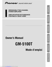 Pioneer GM-3300T Owner's Manual