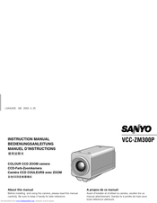 Sanyo VCC-ZM300P Instruction Manual