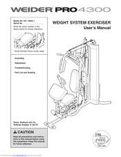 Weider pro 4300 exercise chart