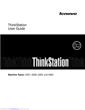 Lenovo ThinkStation 0567 User Manual