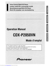 Pioneer CDX-P2050VN Operation Manual