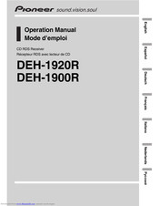 Pioneer DEH-1900R Operation Manual