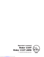 Husqvarna Rider 322T AWD Operation Manual