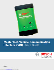 Bosch Mastertech Vehicle Communication Interface User Manual