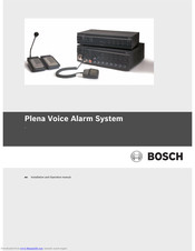 Bosch Plena Power Amplifier Installation And Operation Manual