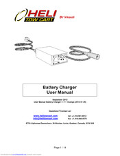 Vanair Battery Charger User Manual