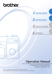 Brother 885-V15 Operation Manual