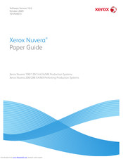 XEROX Nuvera 100 MX Paper Manual