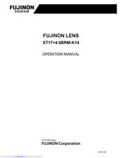 Fujifilm FUJINON XT17×4 5BRM-K14 Manuals