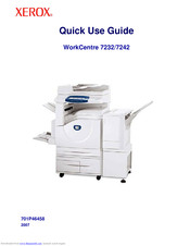 XEROX WorkCentre 7242 Quick Use Manual