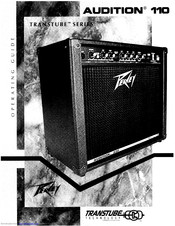 Peavey Audition 110 TransTube Operating Manual