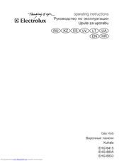 Electrolux EHG6415 Operating Instructions Manual