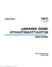NEC univerge SV8300 DT310 User Manual