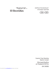 Electrolux EKC 60353 Instruction Booklet