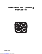 Electrolux EHS 6641 P Installation And Operating Instructions Manual