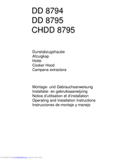 AEG CHDD 8795 Operating And Installation Manual