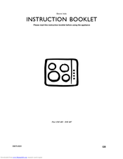 Electrolux EHE 683 Instruction Booklet
