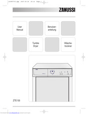 Zanussi ZTE130 User Manual
