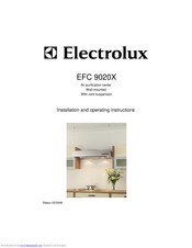 Electrolux EFC 9020X Installation And Operating Instructions Manual