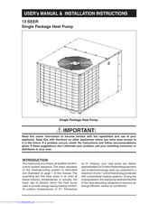 Frigidaire Q5RD-042K User's Manual & Installation Instructions