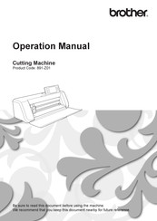 Brother 891-Z01 Operation Manual